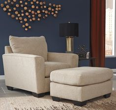 Shop for the Benchcraft Wixon Chair with Rounded Track Arms & Ottoman at Rooms and Rest - Your Mankato, Austin, New Ulm, Southern Minnesota Furniture & Mattress Store Ottoman, Ashley Furniture, Mattress Store, Chair, Furniture, Mattress Furniture, Blue Bedroom, Home Decor, Room