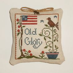 Completed Cross Stitch Old Glory Little House by arcadecache