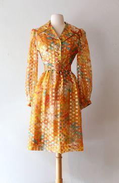 Vintage 1960's Oscar de la Renta Cocktail Dress  by xtabayvintage