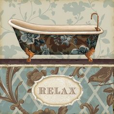 Decoupage Images for Bathrooms