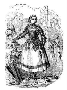 *The Graphics Fairy LLC*: Antique Image - Joan of Arc