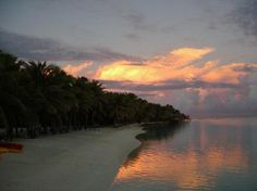 Afternoon sunset; Cook Islands
