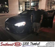 Congratulations to Mark Allen on your #Kia #Cadenza purchase from Clinton Miller at Southwest Kia Mesquite! #NewCar