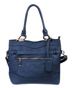 Navy Blue Convertible Shoulder Bag