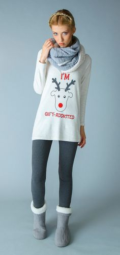 Pigiama da donna 12 in caldo cotone con leggins Collezione Autunno Inverno Pigiamiamoci #caldo #comodo #trendy #cool #giftaddicted #regalamiunPigiamiamoci #Pigiamiamoci