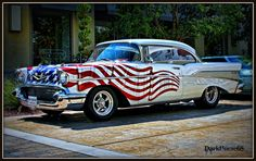 Acquire wonderful pointers on hot rod cars. They are on call for you on our website. Patriotic Pictures, 1957 Chevrolet, Chevrolet Trucks, Chevrolet Impala, Chevy Muscle Cars, Classy Cars, Toy Trucks, Lifted Trucks, American Muscle Cars
