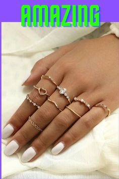 Dainty Gold Rings, Diamond Stacking Rings, Silver Rings, Stackable Rings, Cute Jewelry, Jewelry Rings, Silver Jewelry, Women Jewelry, Jewellery