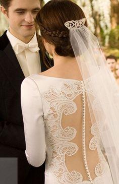 Lovely wedding dress.