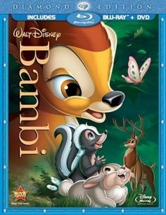 In 1942, Walt Disney released Bambi, his fifth animated classic movie. Bambi was the very first Diseny feature I saw. Came right home, checked out the novel from the library and started reading. Have loved reading ever since. I was about 9 years old.