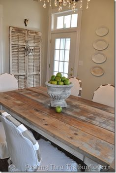Love the rustic table
