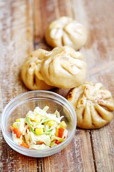 Cabbage and Corn Steam Fried Buns