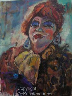 Dit is een vrouw die aan het roken is, het is met een heeeeleboel verschillende kleuren gemaakt dus dat is wel grappig, groetjes martijn en else j a t 1 d