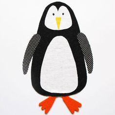 Penguin fabric collage