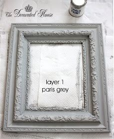 The Decorated House :: Chalk Paintind a Vintage Frame : DIY : Tutorial