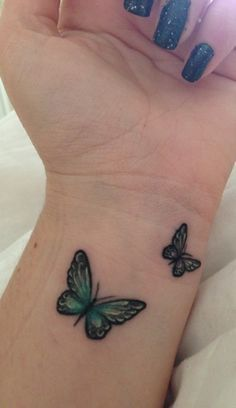 3D butterfly tattoo 28 - 65 3D butterfly tattoos <3 <3