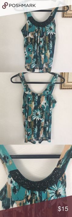 Floral Tank Top Has a few loose strings, worn a couple times, in good shape Bwear Tops Tank Tops Floral Tank Top, Couple, Shape, Best Deals, Fit, Couples