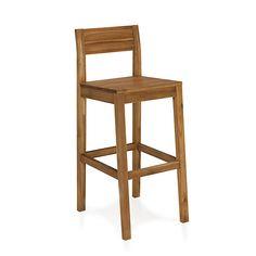 Amber Chaise de bar en acacia