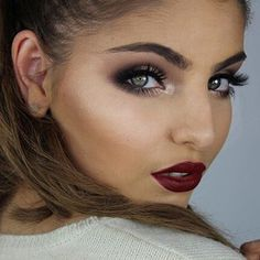 But you may want to choose a completely different route and go with a dark, vampy lipstick. | 13 Ways To Have The Best Makeup At The Holiday Party