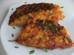 Tortilla de zanahoria fácil - Recetas que cocinar - Carrot Dishes, Chilean Recipes, Chilean Food, Cocina Natural, Gluten Free Pancakes, Recipe Images, Frittata, Omelette, Tortillas