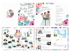 結婚式ペーパーアイテム -プロフィールブック- wedding paper item -profile book- オーダーメイド/オリジナル Plum Wedding, Bali Wedding, Wedding Book, Wedding Paper, Wedding Cards, Summer Wedding, Diy Wedding, Wedding Reception, Wedding Ideas