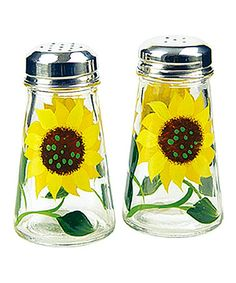 Another great find on #zulily! Sunflower Salt & Pepper Shaker Set Hand Painted by Grant Howard #zulilyfinds