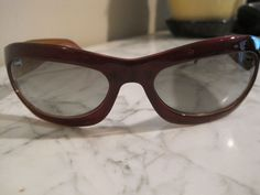 CHANEL BURGUNDY SUNGLASSES WITH CASE GUC #CHANEL