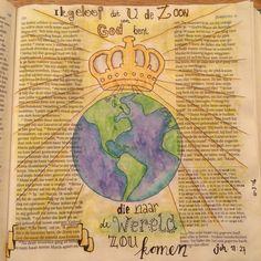 Biblejournaling Bijbeljournaling Bijbeltekst  Craftbijbel johannes11:27