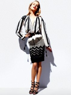 borrowed from Mandra Chic, La Blouse Roumaine in Tom Ford 2012 Peasant Blouse, White Fashion, Traditional Outfits, Tom Ford, Dress Outfits, Dresses, Bell Sleeve Top, Women Wear, Glamour