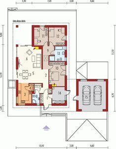 Case cu parter superbe. Trei proiecte care sa va inspire Modern House Floor Plans, Small House Plans, Modern Architecture House, Modern House Design, Single Storey House Plans, Farm Plans, Beautiful House Plans, Three Bedroom House, Modern Bungalow