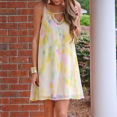 Simple Light Color Slip Dress