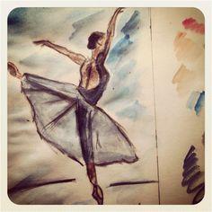 Croquis d'une danseuse au travai.