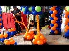 How to Make a Spiral Column- Balloon Artist San Diego Series, My Crafts and DIY Projects