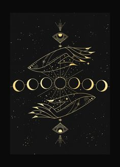 moon The new moon represents the start of a new lunar cycleand occurs approximately every 29 days. When there is a new moon, the Earth, Moon, and the Sun are positioned in a line.The moon is so Ying Yang, Tattoo Geometrique, Moon Magic, Witch Aesthetic, Aesthetic Art, Moon Art, Moon Moon, Moon Phases Art, Hand Art
