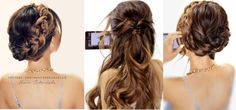 5 minute hair tutorial video: how to create 3 easy back to school hairstyles for medium or long hair. Everyday braided updo hairstyles.
