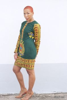 African Print Ankara Party Dress by AdinkraExpo on Etsy. Great special occasion dress!