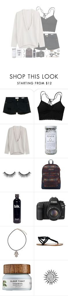 """""""//•Was it even real?•\\"""" by my-happy-little-pill ❤ liked on Polyvore featuring Frame Denim, Brunello Cucinelli, Herbivore, Sephora Collection, JanSport, Canon, Sole Society and Ray-Ban"""