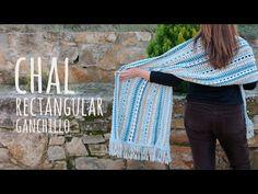 rectangle crochet shawl patterns with flowers Learn To Crochet, Easy Crochet, Free Crochet, Knit Crochet, Crochet Stitches, Crochet Shawls And Wraps, Crochet Scarves, Shawl Patterns, Crochet Patterns For Beginners