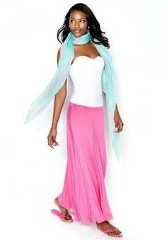 RUCHED SIDE MAXI SKIRT | Body Central