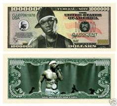 Curtis Jackson (50 Cent) Million Dollar Bills (5/.... $2.99