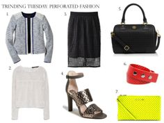 Trending Tuesday: Perforated Fashion #springtrends #perforatedtrend #ss14 #fashiontrends
