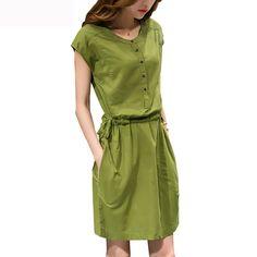 84197be8ed Nowy 2017 Lato kobiet Sukienka Cotton Linen O Neck Bez Rękawów Suknie Dla  Kobiet Plus Rozmiar