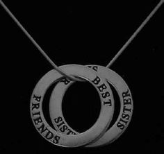 Is your sister your best friend? Celebrate that relationship with this necklace found at http://www.handcraftedcollectibles.com/sister_necklace.htm