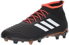 adidas Predator 18.2 FG Soccer Shoe, Core Black/White/Solar Red, 13