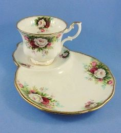 Royal Albert Celebration Tea Cup and Saucer Tennis Snack Set