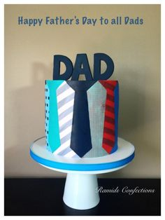 Happy Father& Day Tie Cake - Cake by Ramids Happy Father& Day Tie Cake - Cake by Ramids. Happy Fathers Day Cake, Persian Desserts, Father's Day Celebration, Dad Cake, Dad Birthday Cakes, Minnie Cake, Olive Oil Cake, Cakes For Men, Cake Decorating Tips