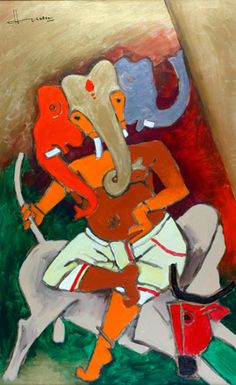 Indian Traditional Paintings, Modern Indian Art, Indian Folk Art, Indian Artist, Indian Paintings, Modern Art, Love Painting, Artist Painting, Artist Art