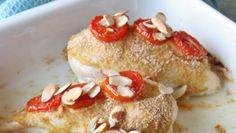 Ovnsbakt kyllingfilet med sennep og tomat Pancakes, Breakfast, Food, Morning Coffee, Essen, Pancake, Meals, Yemek, Eten