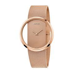 Γυναικείο quartz ελβετικό ρολόι Calvin Klein K942362A Glam με διαφανές καντράν και ροζ επίχρυσο μπρασελέ σε στυλ ψάθας | Ρολόγια CK ΤΣΑΛΔΑΡΗΣ στο Χαλάνδρι #Calvin #Klein #Completion #tsaldaris