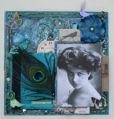 Gibson Girl ~ Gorgeously colored heritage collage page with great details!