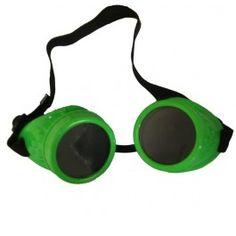 Lunettes Goggles Cyber Gothique Goth Vert